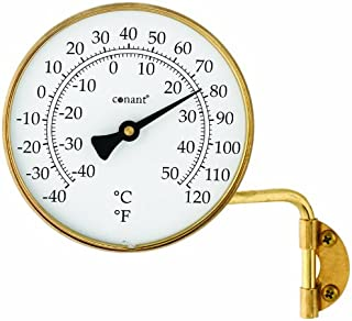 Conant T6LFB Vermont Dial Thermometer, 4-Inch, Living Finish Brass