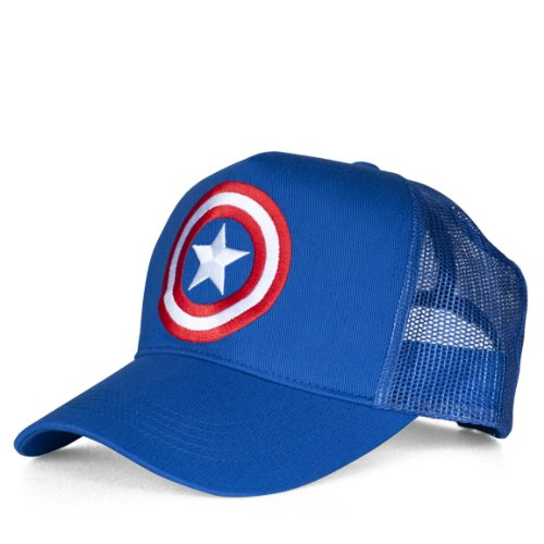 Marvel Unisex Captain America-Shield Baseball Cap, Azure Blue, One Size