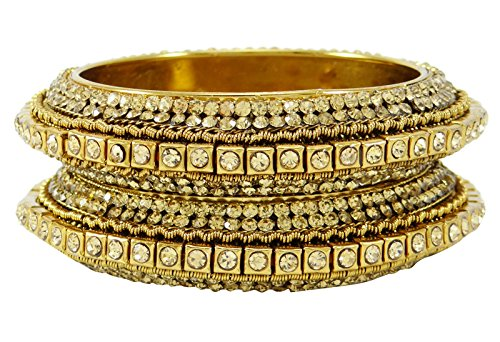 Banithani traditionelle Goldtone Kada Armband Armreif Braut Schmuck Geschenk für Frauen 2 * 10