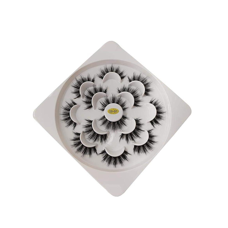 ロードブロッキング全体にレオナルドダフェイクまつげ 3D つけまつげ 大きい目 自然 濃密 超長い 上まつげ 超軽量 合成繊維 通勤 パーティー かわいい アイラッシュ ブラック 7ペア
