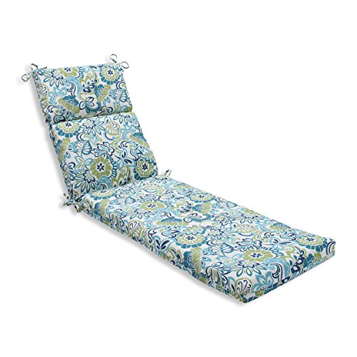 Pillow Perfect Outdoor/Indoor Zoe Mallard Chaise Lounge Cushion, 72.5 in. L X 21 in. W X 3 in. D, Blue