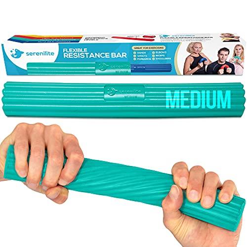 Serenilite Flexible Resistance Bar | Grip Strength Trainer, Widerstandsband, Unterarmtraining | Flexbar für Tennisellenbogen, Golferarmbogen, Physiotherapie, Schmerzlinderung, Sehnenentzündung