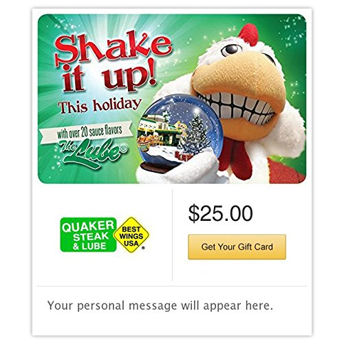 Quaker Steak & Lube Shake It Up Gift Cards - E-mail Delivery - http://coolthings.us