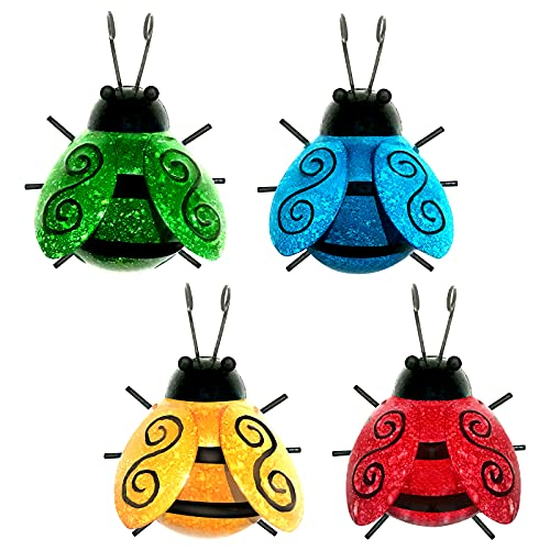 Metal Insect Wall Art Decor, 4 P...