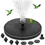 Bomba de Fuente Solar, Lachesis 3W Fuente de jardín Solar Flotador Panel Solar Batería incorporada con 7 boquillas Ideal para Estanque pequeño Baño de Aves Tanque de Peces Decoración de jardín