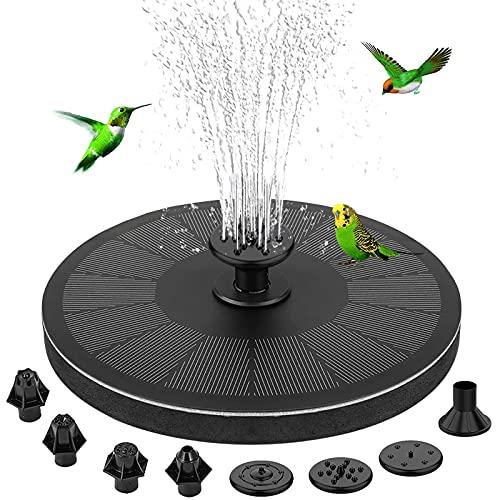 Fontana solare, fontana da giardino con pompa solare circolare da 3 W Lachesis con batteria da 900...