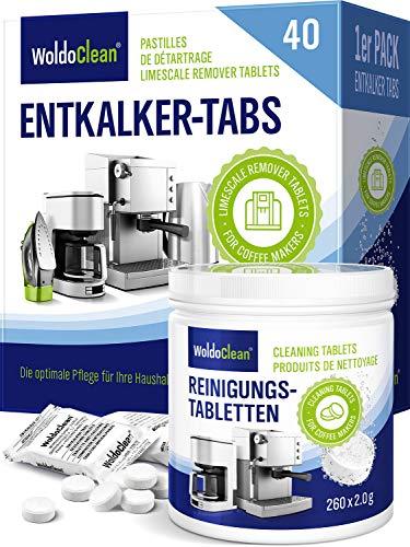 Pflegeset für Kaffeevollautomat und Kaffeemaschine - 40 Entkalkungstabletten 260 Reinigungstabletten