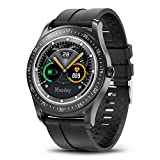 """HopoFit Smart Watch for Men Women,Fitness Tracker Smartwatch for Android iOS Phones,1.3"""" Touch Screen IP68 Waterproof Sport Watch with Heart Rate,Sleep Monitor (Black)"""