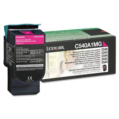 Original Lexmark C540A1MG 1000 Yield Magenta Toner Cartridge - Retail
