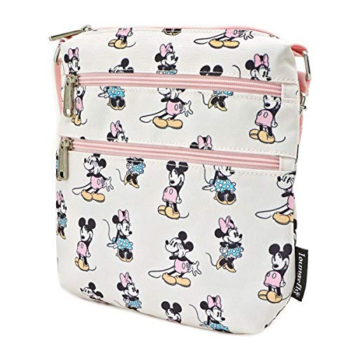 Pastel Minnie Mickey AOP Nylon Passport, Multi, 8 inches x 9 inches x 1.25 inches