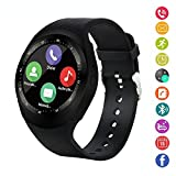 Smart Watch,IDEALBY Rotondo Android Bluetooth Smartwatch Touch Screen Orologio con slot per schede...
