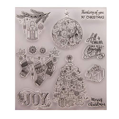 BESTOYARD Transparent Stempel Weihnachten DIY Handwerk Scrapbooking Fotoalbum Tagebuch Stempel