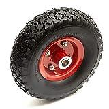 10 Inch 3.00-4 Pneumatico & Offset Hub Rosso Metallo Ruota & Cuscinetti Sacco Camion Mano Carrello Trolley