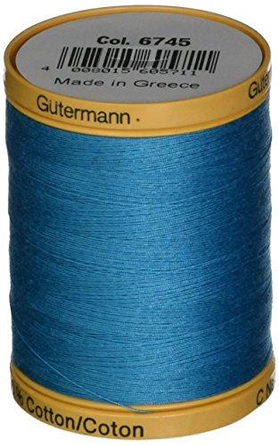 Gutermann Natural Cotton Thread 800M, 800m/875 yd, Aqua Marine