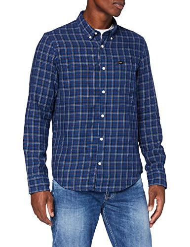 Lee Button Down Camicia abbottonata, Washed Blue_00, S Uomo