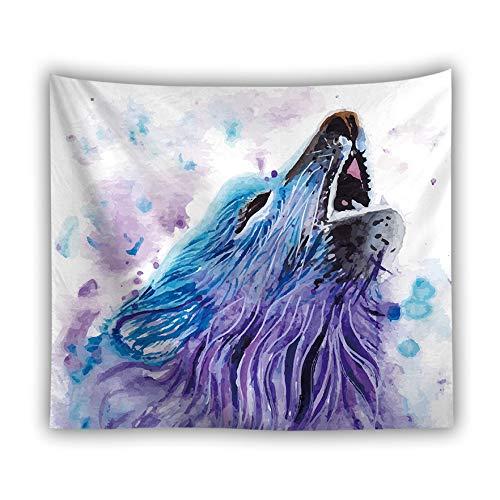 jtxqe Fabrik direkt Tapisserie Picknick Matte Tier Tapisserie Digitaldruck Wolf Löwe Tiger heiße Wandbehang Wanddekoration 4 150X100cm