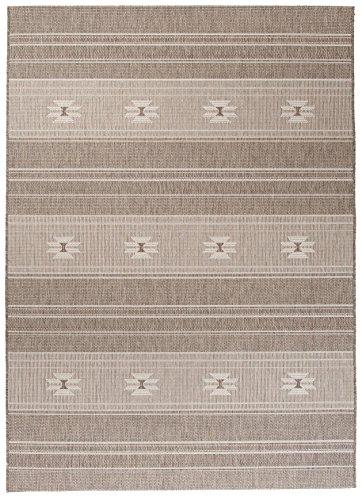 Carpeto Sisal Teppich Taupe 160 x 230 cm Sisal Optik Muster Flachgewebe Sisal Kollektion