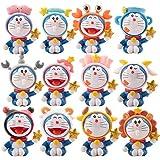Dhl 12 Art Doraemon zwölf Konstellation Tinkerbell Roboter-Katze-Puppe-Auto-Kuchen-Dekoration-Dekoration-Geschenk 5CM