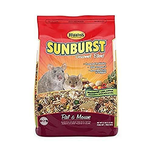 Higgins Sunburst Gourmet Rat & Mouse Food, 2.5 Lbs, Large