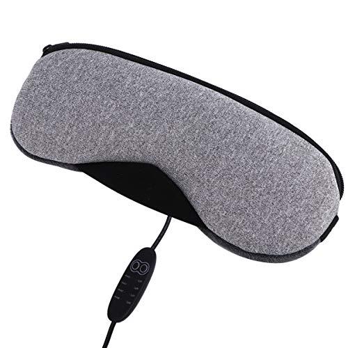 MILISTEN Chauffage USB Ombre à Paupières Spa Confort Lunettes de Couchage à Vapeur pour Les Yeux Gonflés Secs Cercles Foncés Dormir Partout Voyage à La Maison (Gris)