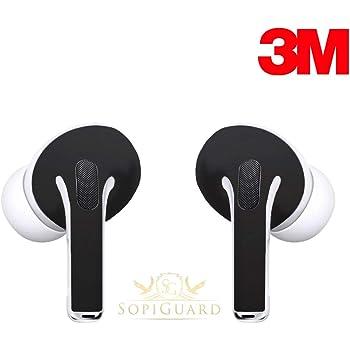 Amazon Com Sopiguard Skin For Apple Airpods Pro Earbuds Sticker Vinyl Wrap 3m Matte Black Electronics
