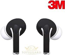 SopiGuard Skin for Apple Airpods Pro Earbuds Sticker Vinyl Wrap (3M Matte Black)