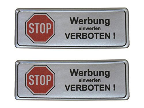 2x 3D-brievenbus sticker zilver