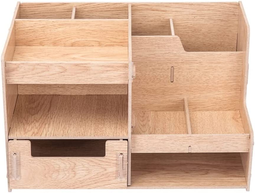 Fengshop File Organizer Multi-Functional Rack Wooden Multi- Max 82% OFF Max 50% OFF