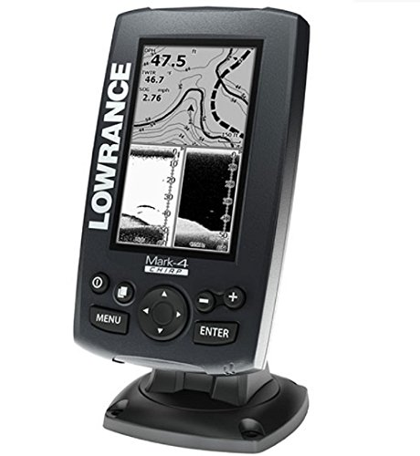 Lowrance Mark-4 Chirp 000-11823-001 Fishfinder/Chartplotter with 83/200 KHz Transom Mount Transducer