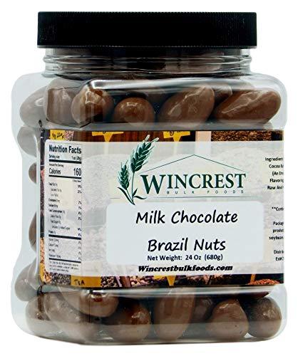 Milk Chocolate Brazil Nuts - 1.5 Lb Tub