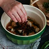 HAILI Tableware, Grande y profunda Ramen sopa de fideos Tazón creativo de ensalada de fruta Pasta de mezcla tazones Conjunto Microondas Safe Creative cerámica Vajillas (Color: Verde) (Color : Green)