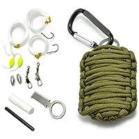 Ganzoo Paracorde 550Survival–Kit de 12Pièces en tant que überlebensausrüstung, Outdoor Kit de survie, Couleur Army Green, Ganzoo