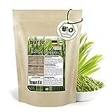 nur.fit by Nurafit BIO Gerstengras Pulver 1kg - rein natürliches Pulver aus Gerstengras ohne Zusatzstoffe aus deutschem Anbau – Bio zertifiziertes Green-Smoothie-Pulver mit Vitaminen & Mineralstoffen
