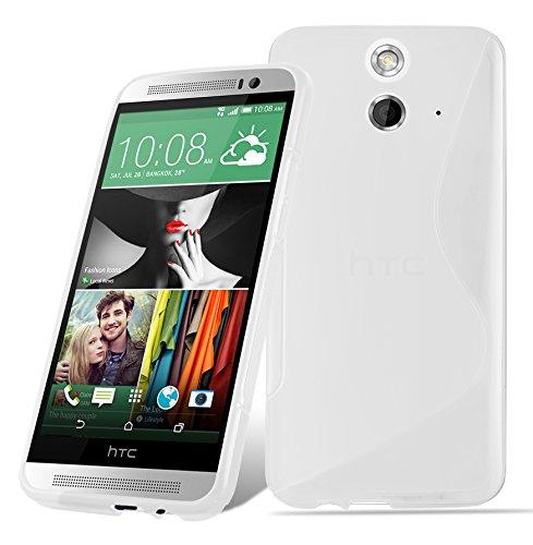 Preisvergleich Produktbild Cadorabo Hülle für HTC ONE E9 - Hülle in HALB TRANSPARENT Handyhülle aus flexiblem TPU Silikon im S-Line Design - Silikonhülle Schutzhülle Soft Back Cover Case Bumper