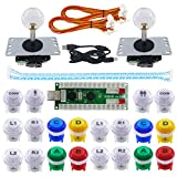 SJ@JX 2 Player Arcade Game DIY Kit Arcade Joystick Controller Mechanical Keyboard Switch Retropie Raspberry MAME Arcade Button