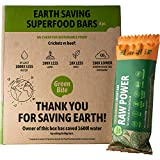 Raw Power Cricket Protein Bar - Cocoa-Orange-Cricket with No Added Sugar - High in Protein, Fiber, Magnesium and B12. Sustainable Gluten Free Paleo Low Calorie Snack. for Post Workout 8x1.8oz