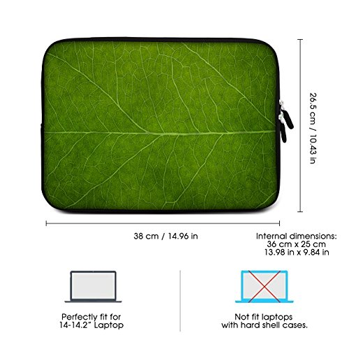 Sidorenko Laptop Tasche für 14-14,2 Zoll - Universal Notebooktasche Schutzhülle Acer/Lenovo - Laptoptasche aus Neopren, PC Computer Hülle Sleeve Case Etui, Grün