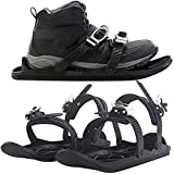 Prana Ski Skates for Snow Winter The Short Skiboard Snowblades The Real Original Outdoor Skiing Sled Anti-Slip Foot Panels Snow Board Ski Boots Outdoor Skiing Winter Sports Equipment (#Thick Soles)