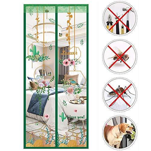 Anti-Moskitonetz, magnetisch, für Kindertüren, magisches Netz, Fliegengitter, Tür mit Klettverschluss, für Jahr, Fliegengitter magnetisch
