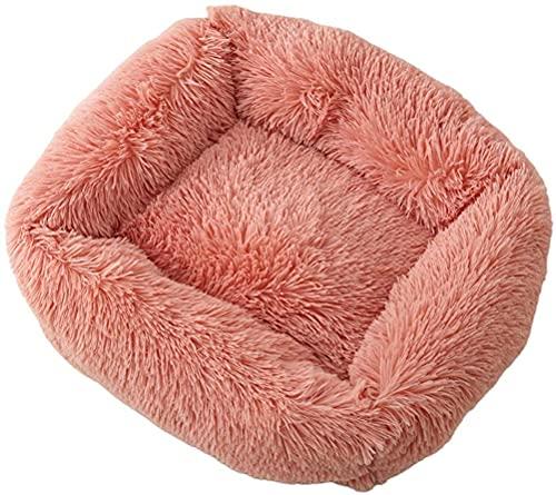 Gato Mascotas Cama Mascotas Cama Mascotas bedsmall Perro cálido Cueva Suave Colorido Peluche Esponjoso Cachorro Lavable sofá Interior (Color : Morandi Pink)