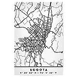 artboxONE Poster 90x60 cm Städte Bogota Colombia Black