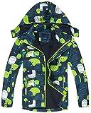 Maeau Chaqueta Impermeable para Niños Chubasquero con Capucha para Niños y Niñas Chaqueta Polar Impermeable Ligero para Exteriores Chaqueta de Ciclismo para Viajes Escolares Unisex 4-5 años Azul