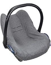 Original Dooky Seat Cover nakładka Ciemna szarość na nosidełko dla niemowląt rozmiar uniwersalny pasuje do 3 i 5 punktowego systemu pasów bezpieczeństwa, dla grupy wiekowej 0+, szara