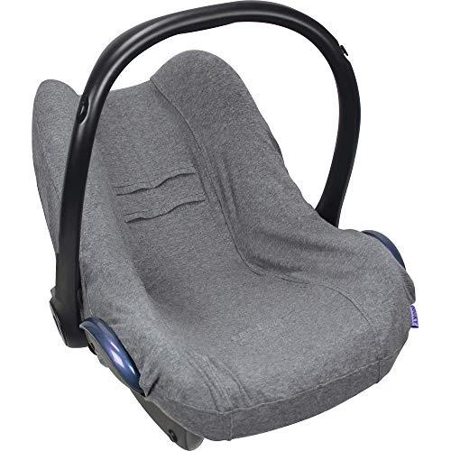 Dooky Seat Cover 0+ Dark Grey Uni Melange Housse de siège auto (pour système de ceinture 3 et 5 points, pour la tranche d'âge 0+, convient à la plupart des marques), Gris
