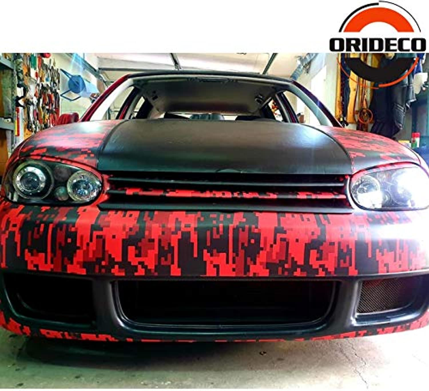 Different Size Red Black Digital Vinyl Car Wrap for Full Car Body Decorative Wrapping Film with Air Bubble Free  (Size  1.52X15M, Style  Matte Finish)