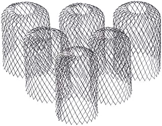 6 Pack Stainless Steel - Gutter Guard 3 Inch Expandable Filter Strainer. Stops Blockage from Leaves and Debris
