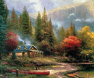 Thomas Kinkade Inspirations Collection The End of A Perfect Day III Puzzle - 300Piece