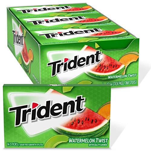 Trident Watermelon Twist Sugar Free Gum, 12 Packs of 14 Pieces (168 Total Pieces)