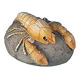 TEHAUX 1 adorno de resina para acuario, paisaje, simulación de langosta y piedra para decoración de peceras (color al azar)