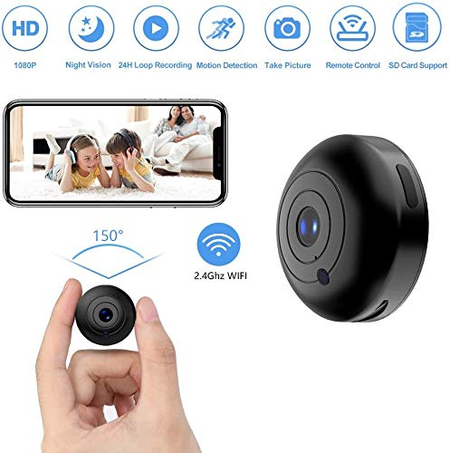 Walmeck Portable HD WiFi Nanny Cam with Night Vision